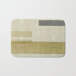 """Burlap Texture Natural Shades"" Bath Mat"