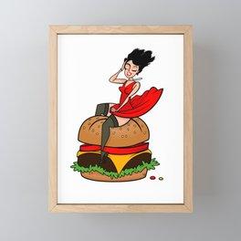 Hamburger Hottie Framed Mini Art Print