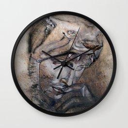 """Wolfquest"" - original is guache. Wall Clock"