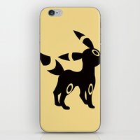 umbreon iPhone & iPod Skins featuring Umbreon by Polvo