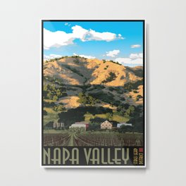 Napa Valley - Regusci Vineyards Metal Print
