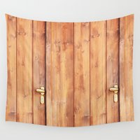 wooden Wall Tapestries featuring Wooden door by Carlo Toffolo