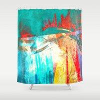 surfing Shower Curtains featuring Surfing by Fernando Vieira