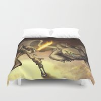 hiccup Duvet Covers featuring httyd2: To Battle by Eva Gudmunds