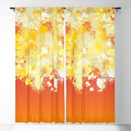 paint splatter on gradient pattern bli Blackout Curtain