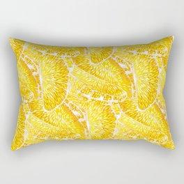 Extremly juicy orange slices Rectangular Pillow