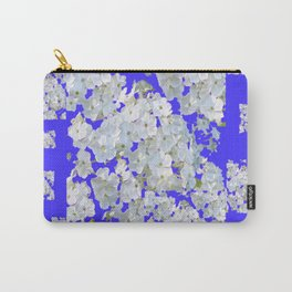 MODERN PURPLE & WHITE LACE FLORAL GARDEN Carry-All Pouch