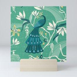 Aviary - Green Mini Art Print