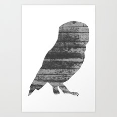 Owl (The Living Things Series) Art Print
