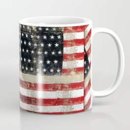 USA Flag ~ American Flag ~ Distressed Pattern ~ Ginkelmier Inspired Coffee Mug