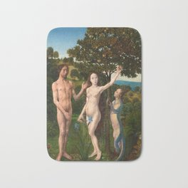 The Fall of Man and The Lamentation by Hugo van der Goes Bath Mat