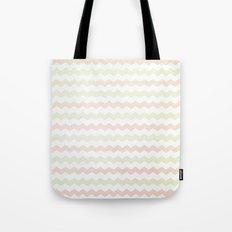 Flannelette Chevron Design Tote Bag