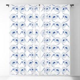 Cornflower blue kiwis Blackout Curtain