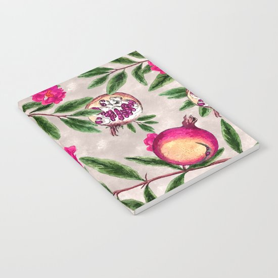 Pomegranate Pattern #society6 #decor #buyart Notebook
