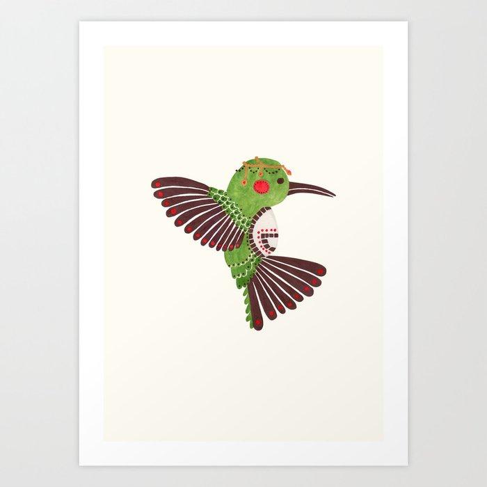 The Green Hummingbird Art Print