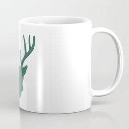 Deer Head: Green Coffee Mug