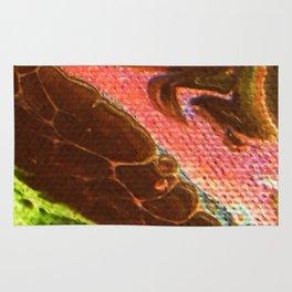 Acrylic Pour Lava Flow Rug
