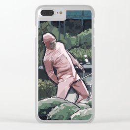 Pink Guy Clear iPhone Case