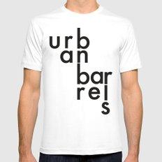 Urban Barrel Type White MEDIUM Mens Fitted Tee