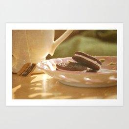 tea + cookies Art Print