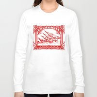 oakland Long Sleeve T-shirts featuring Oakland Classic Red by Kris alan apparel