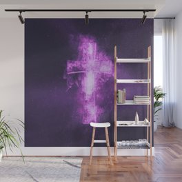 Eight music note symbol. Abstract night sky background Wall Mural