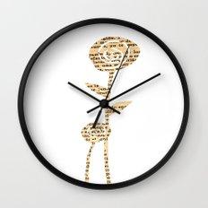 Papercut Flower 1 Wall Clock