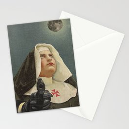NUN WITH A GUN Stationery Cards