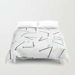 Learn Your Angles Duvet Cover