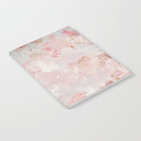 Floral painterly pattern Notebook
