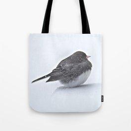 Brave Bird in a Blizzard Tote Bag