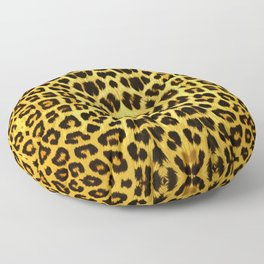 Leopard Print - Gold Floor Pillow