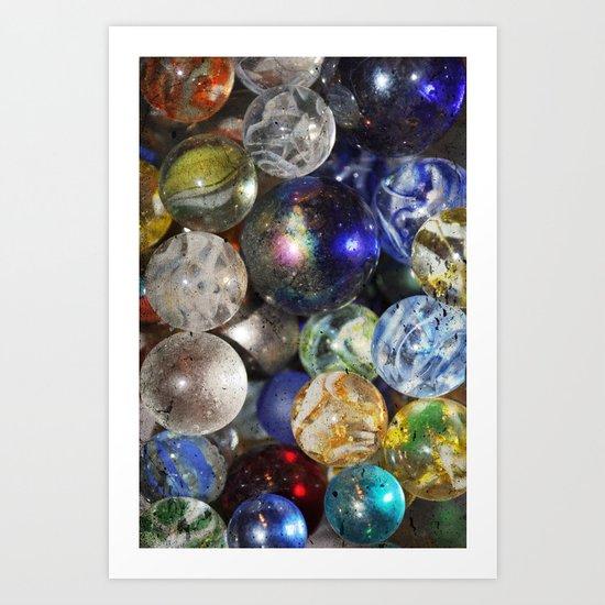 Marbles Art Print