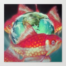 Pink Goldfish Canvas Print