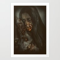 gore Art Prints featuring Gore Girl by rob_benevides_fx