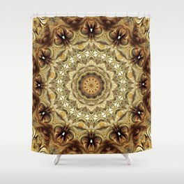 Flower Of Life Mandala (Earth Touch) Shower Curtain