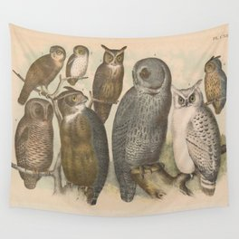 Naturalist Owls Wall Tapestry