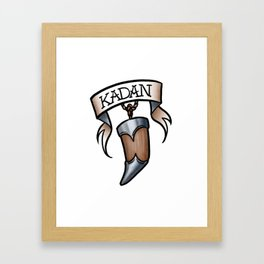 Kadan Framed Art Print