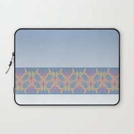 Leafy lavender Nouveau stripe Laptop Sleeve
