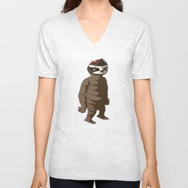 Megs is a Giant Sloth Unisex V-Neck