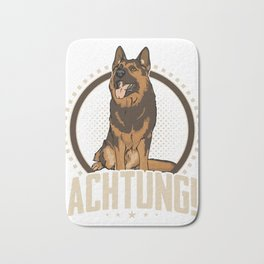 Animal Owners Dog Trainers Doggie Pets German Shepherd Achtung Gift Bath Mat