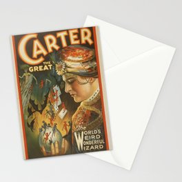 Vintage poster - Carter the Great Stationery Cards