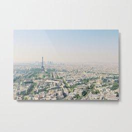 Eiffel Tower View from Tour Montparnasse Metal Print