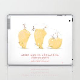 Adho Mukha Vrksasana Chicken Yoga Laptop & iPad Skin