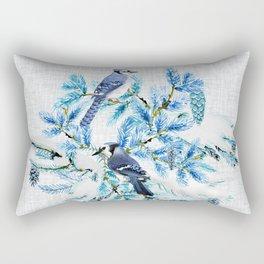 WINTER BLUE JAYS Rectangular Pillow
