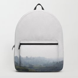 Hazy mountains. Hazy mountain range. Foggy Canyon. Malibu Canyon. Backpack