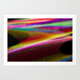 Colour in motion. Art Print