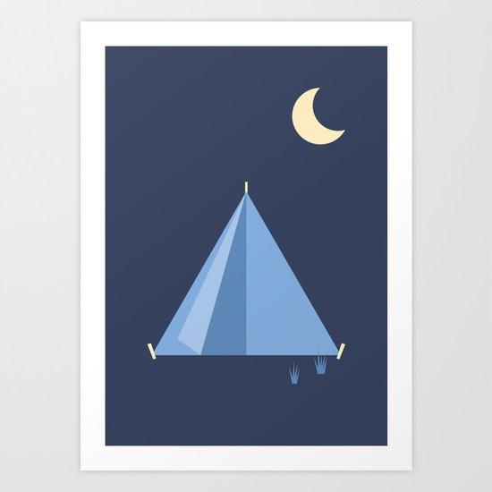 #83 Tent Art Print