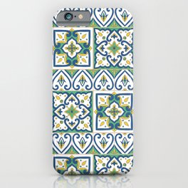 Italian Tile Pattern – Sicilian ceramic from Caltagirone iPhone Case