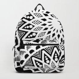 Black and White Mandala - LaurensColour Backpack